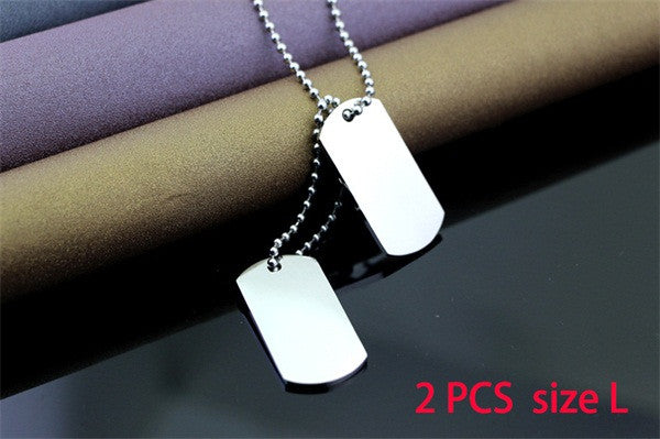 Men Jewelry Custom Dog Tag Pendant Necklaces Stainless Steel -