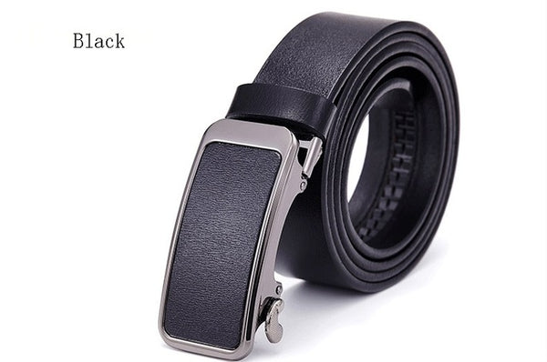 High Quality Luxury Automatic Buckle Leather Belt Men -Casual Strap