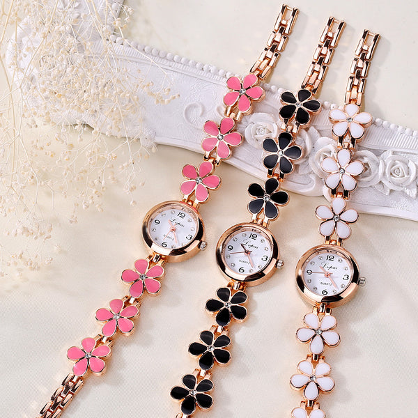 Luxury Crystal Gold Watches Women Fashion Bracelet Quartz Wristwatch Rhinestone Ladies