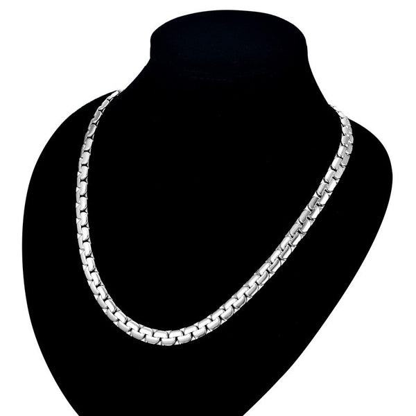 "Mens  Chain Necklace 6MM width Long Necklace  20"" or 26"" Stainless Steel"