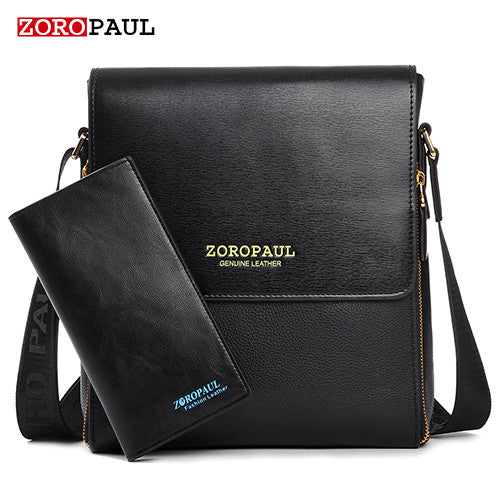 Business Leather Men's Messenger Bags  High Quality Crossbody Vintage Shoulder Man Bag