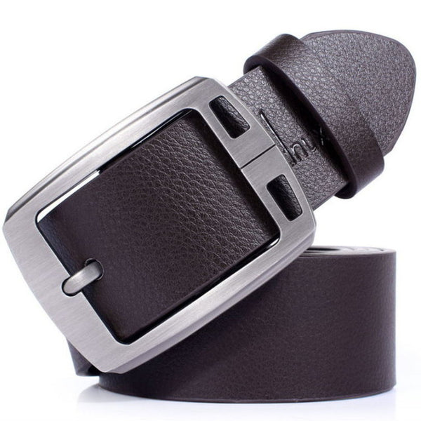 Men's Belts luxury brand genuine leather belts pin buckle casual business designer black belts