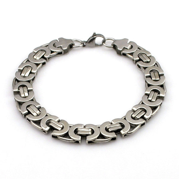 Stainless Steel Bracelet Men Byzantine Chain Bracelet Jewellery