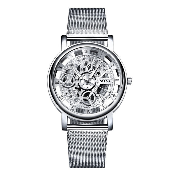 Fashion   Luxury Hollow Steel Quartz Wrist watch