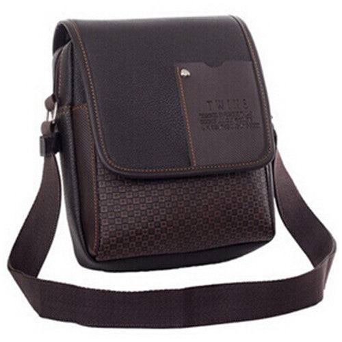 Men Leather Messenger Bag shoulder crossbody casual or business bag