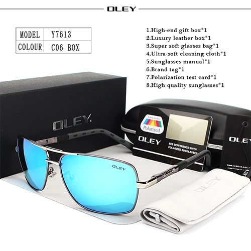 OLEY Brand Polarized Sunglasses Men/Women  With Accessories Unisex