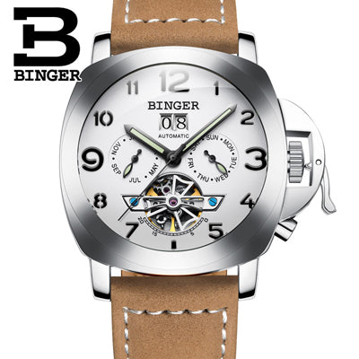Switzerland luxury men's watch BINGER  multifunctional military glow watch