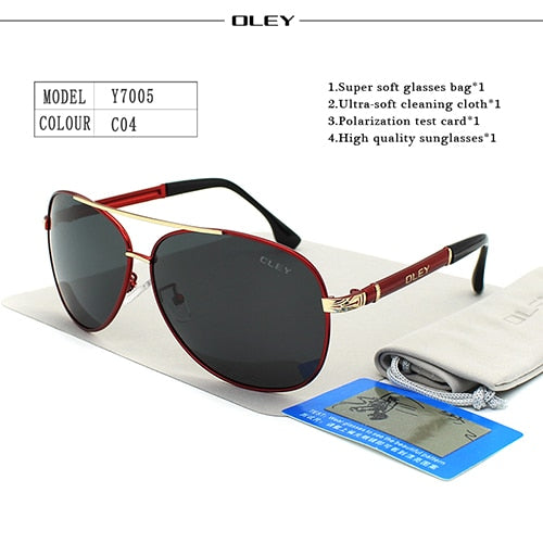OLEY Luxury Kit men  pilot classic polarized  sunglasses