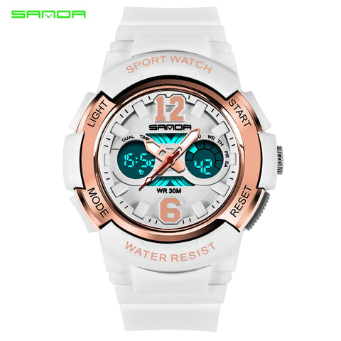 Fashion Sports Watches  Waterproof LED Multifunction Digital Quartz Watch