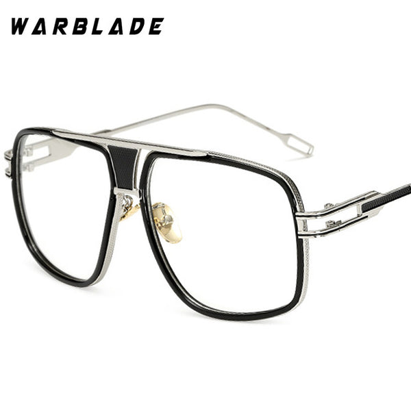 18K Gold Plated Square Men Sunglasses Flat Top Luxury  Design