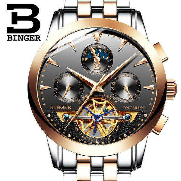 Switzerland  BINGER brand luxury men's  Mechanical Wristwatches
