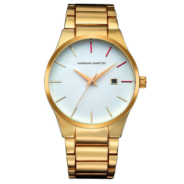 Men's Quartz Wristwatches with elegant metal Frame