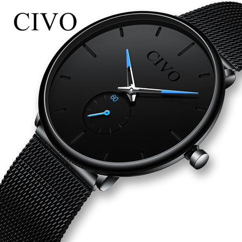 Slim Mesh Strap Minimalist Wrist Watches For Men Quartz Sports