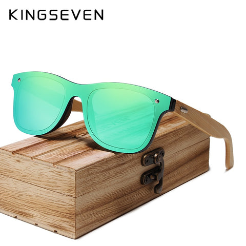 KINGSEVEN  Bamboo Polarized Sunglasses Men / Women - Original Wood Glasses