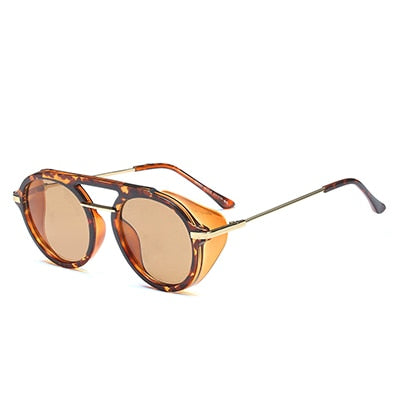 Dressy Retro Steampunk Sunglasses New Fashion Brand Round Designer Steam Punk Sun Glasses