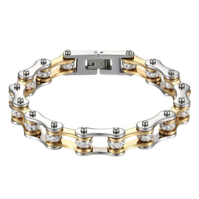 Motorcycle Chain  Stainless Steel Biker/punk  Mens Bracelet