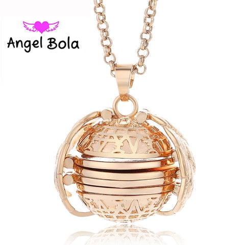 Magic Memory Floating Locket Plated Angel Wings Flash Box Fashion Necklace