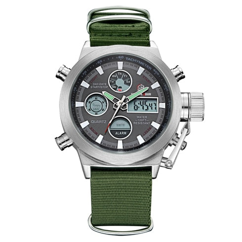 Digital Analog  Army/Military Waterproof -Male Fashion  Sports Watches