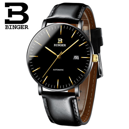 Switzerland BINGER Mens Classic  Luxury Brand Watches