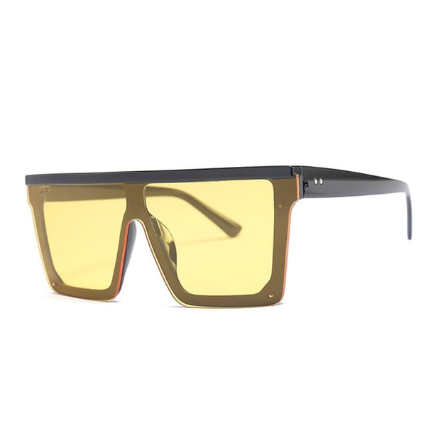 Retro Italian Vintage Ovesized Sunglasses  with Rimless Square