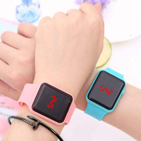 Silicone LED Digital Men Watch /Ladies Outdoor colorful Sports watch