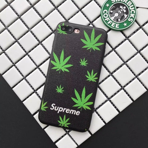 Crazy Frog Supreme cover cases For iphone 6S case tide green maple leaf For iphone 7 7plus 6 6plus5.5 phone cases Cover