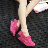 Women Flat  Loafers Ladies Elegant Suede Moccasins Fringe Casual Shoes