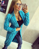 Women Knitted Sweater Coat Autumn And Winter Long Sleeve Cardigan Jacket Female Casual Outwear