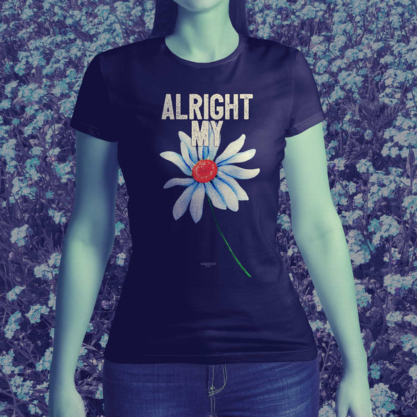 Alright My Flower Ladies short sleeved T shirt with flower graphic