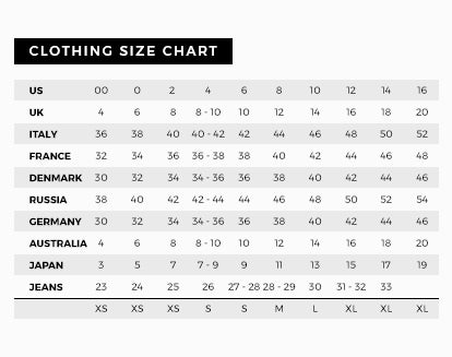 Clothing Women's Sizing Guide