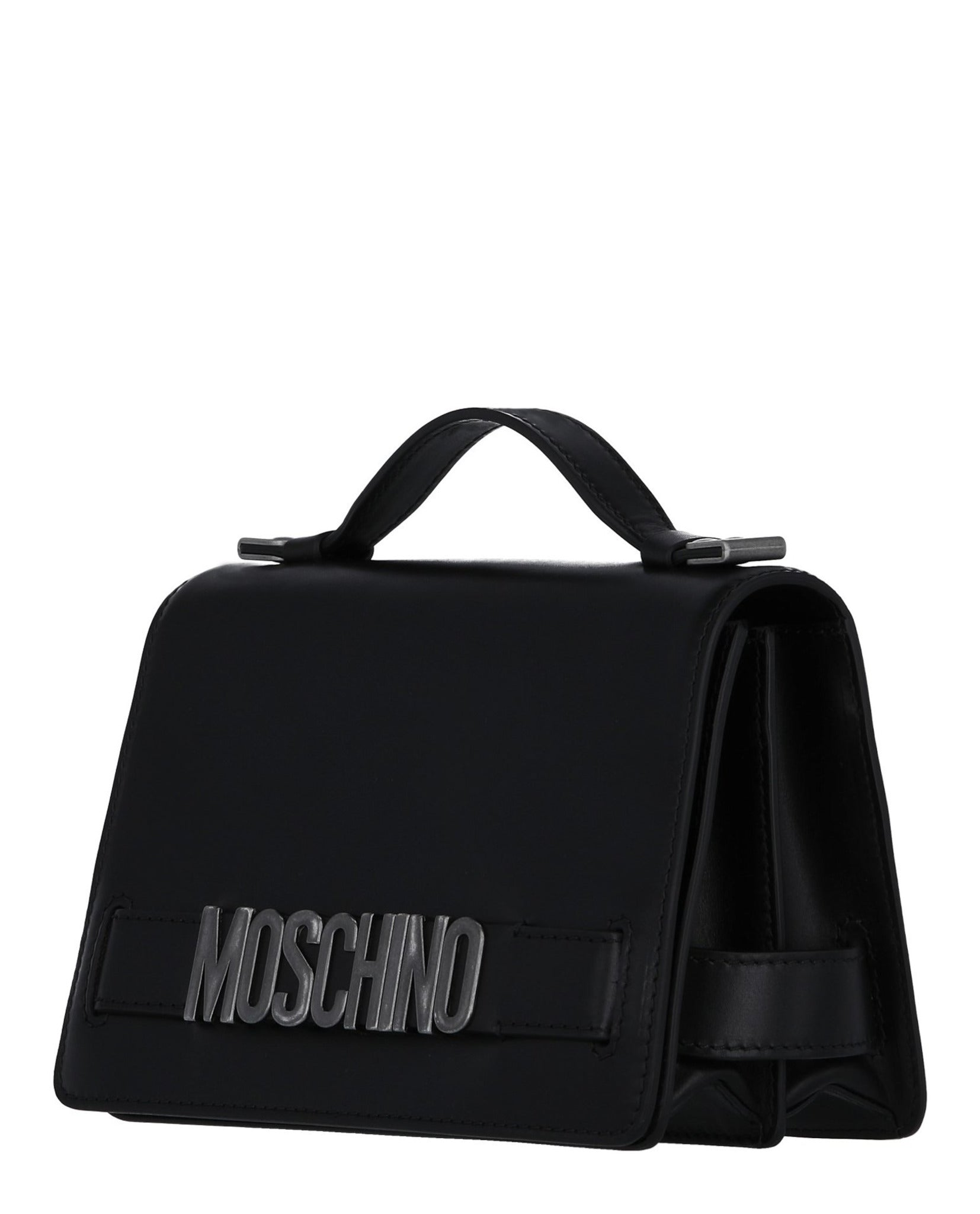 Moschino Logo Plaque Handbag