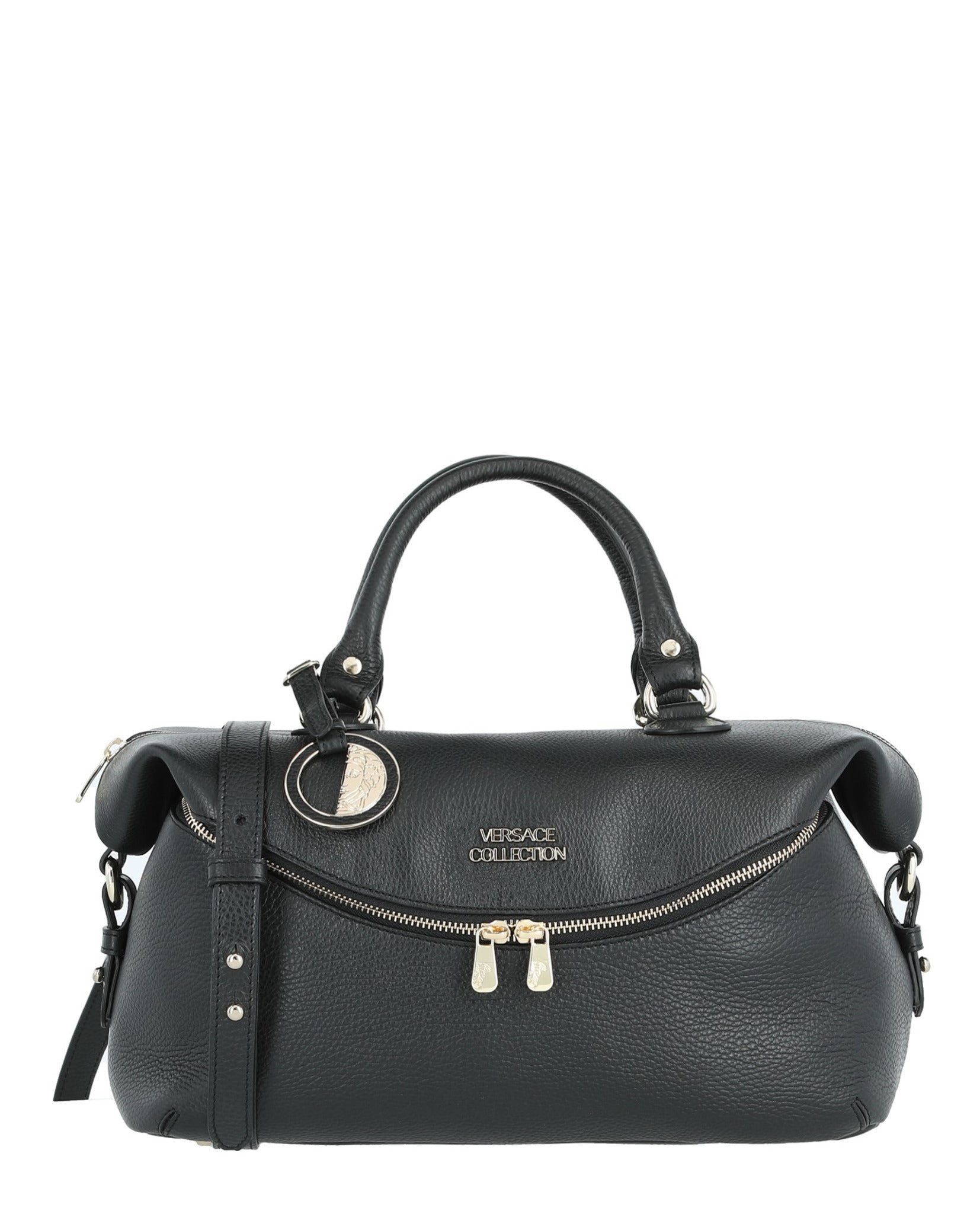 977106c85e66af Versace Collection Womens Leather Top Handle Bag   Madaluxe Vault ...