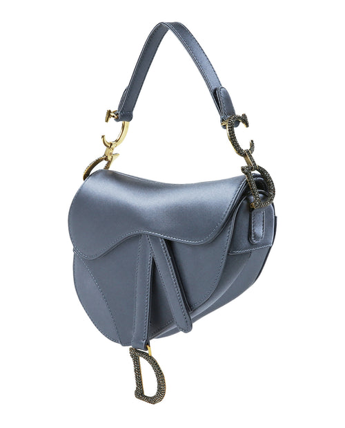 Dior Saddle Satin Shoulder Bag