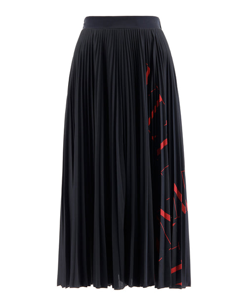 Valentino Pleated Skirt With Logo