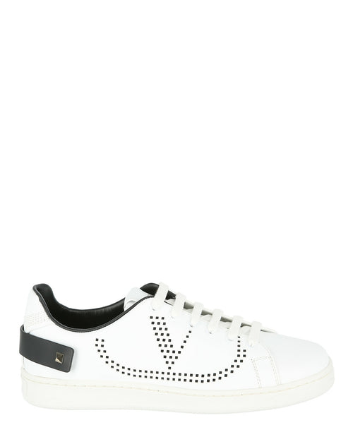 Valentino Backnet Low Top Sneakers with Rockstud Tab Sneakers