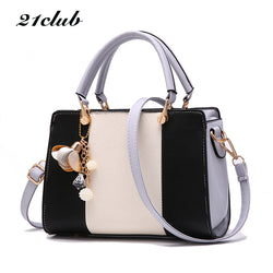 21club Solid Chain Rivet Panel Tote Bag