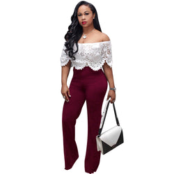 Lace Patchwork Women's Jumpsuit