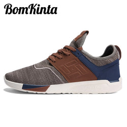 Men's Casual Patchwork Breathable Walking Sneakers