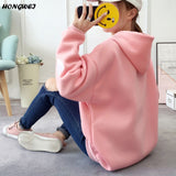 Womens Long Sleeve Heart Embroidery Hooded Sweatshirt