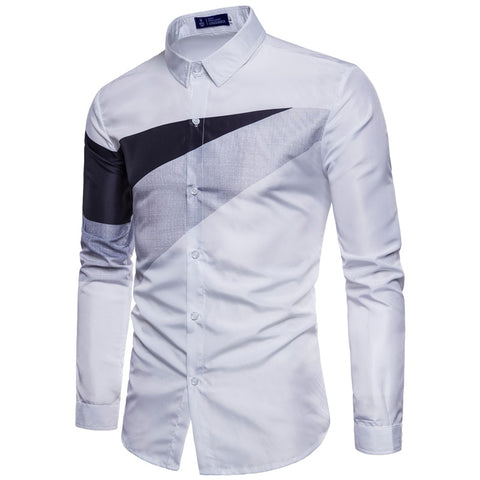 Men's Fashion Slim Fit Long Sleeve Shirt