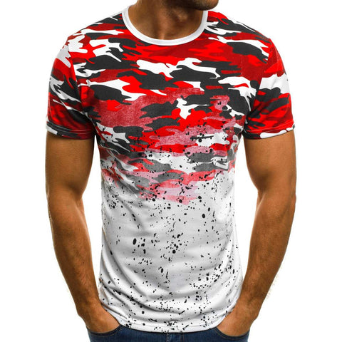 Men's Camouflage Printed T Shirt