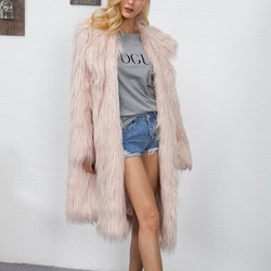 Women's Fashion Fur Coat