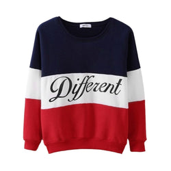 Fashion Letter Different Printed Women's Hoodie