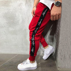 Joggers Patchwork Casual Drawstring Sweatpants