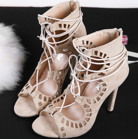 Roman Gladiator Open Toe High Heel Sandals