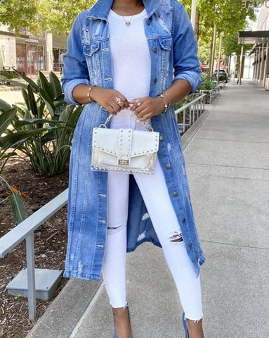 Women's 932 Vintage Ripped Denim Jacket