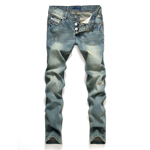 Men Classic Straight Jeans