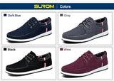 SUROM Men's Casual Spring Shoes