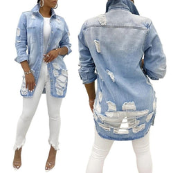 Women's 9625 Ripped Denim Jacket