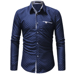 Men's Slim Long-Sleeved Dress Shirt